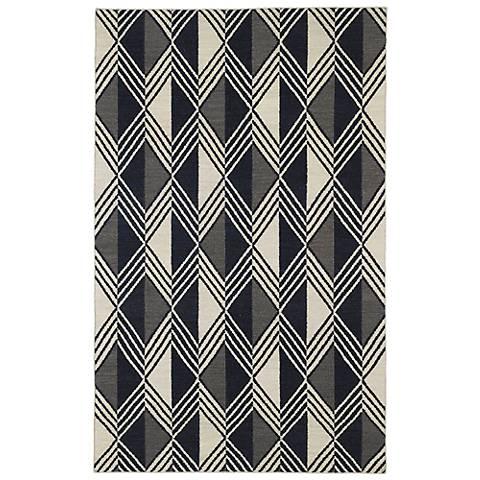 Kaleen Nomad NOM06-02 Black Wool Area Rug