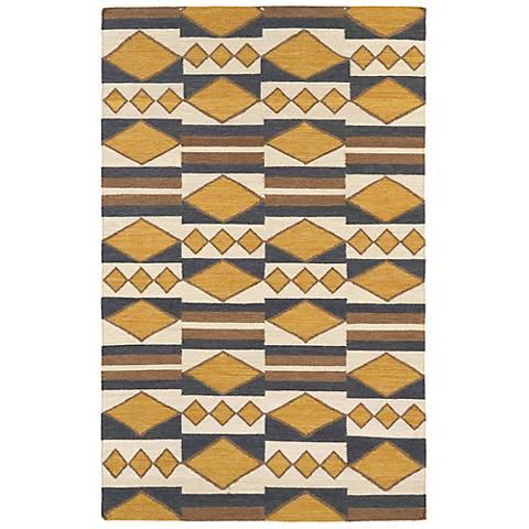 Kaleen Nomad NOM07-05 Gold Wool Area Rug