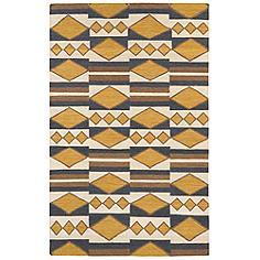 Kaleen Nomad NOM07-05 Gold 8'x10' Wool Area Rug