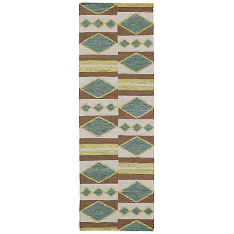 Kaleen Nomad NOM07-78 Turquoise Wool Area Rug