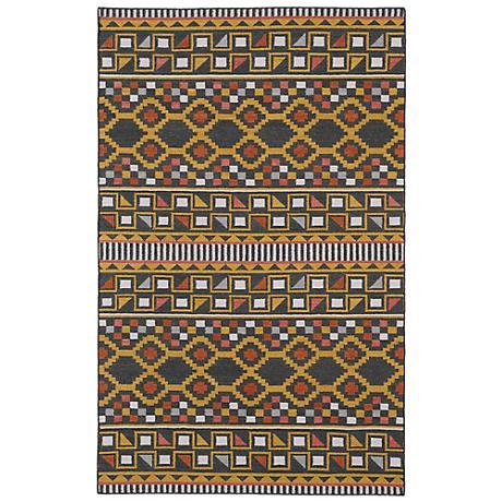 Kaleen Nomad NOM08-38 Charcoal Wool Area Rug