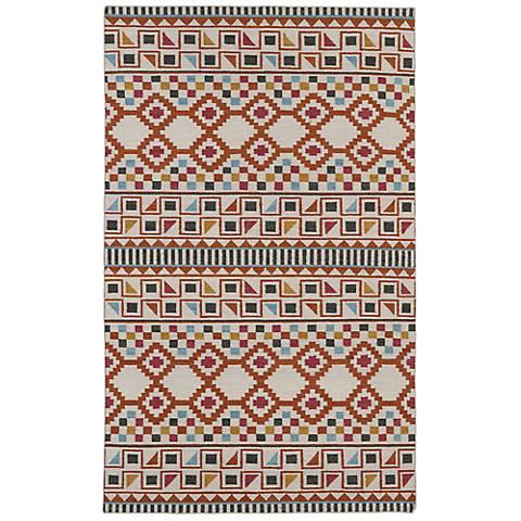 Kaleen Nomad NOM08-53 Paprika Wool Area Rug