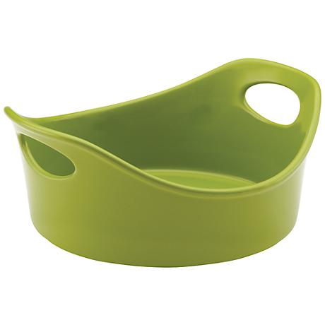 Rachael Ray Stoneware 1.5-Quart Round Green Open Baker