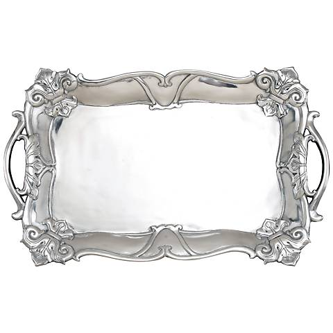Arthur Court Fleur-de-Lis Silver Rectangular Tray