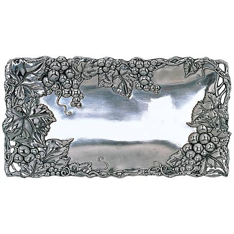 Arthur Court Grape Silver 6x12 Bread Tray