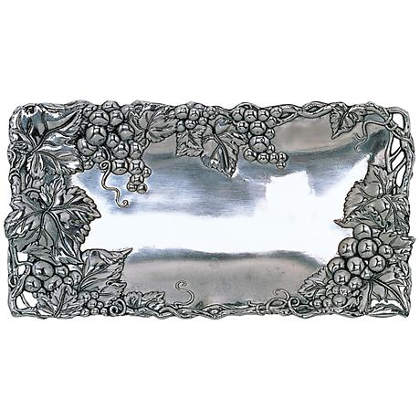 Arthur Court Grape Silver 6x12 Bread Tray