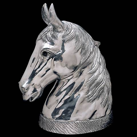 Arthur Court Horse Polished Silver Wine Cooler