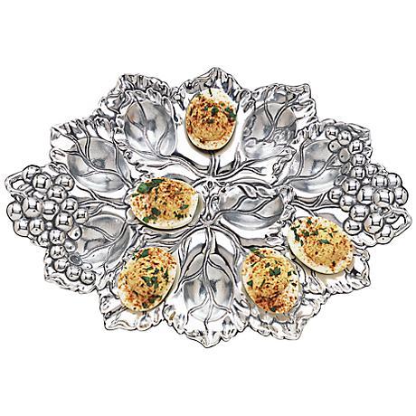 Arthur Court Grape Silver 12-Deviled Egg Holder