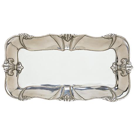 Arthur Court Fleur-de-Lis Silver 6x12 Bread Tray