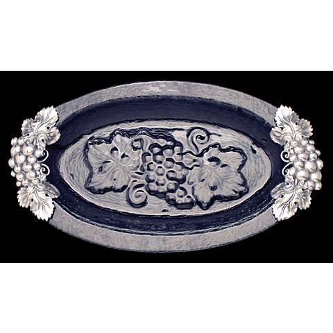 Arthur Court Grape Silver and Glass Platter