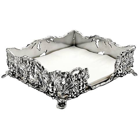 Arthur Court Grape Silver Luncheon Napkin Box