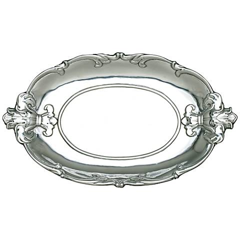 Arthur Court Fleur-de-Lis Silver Oval Tray