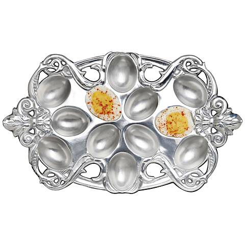 Arthur Court Fleur-de-Lis Silver Deviled Egg Holder