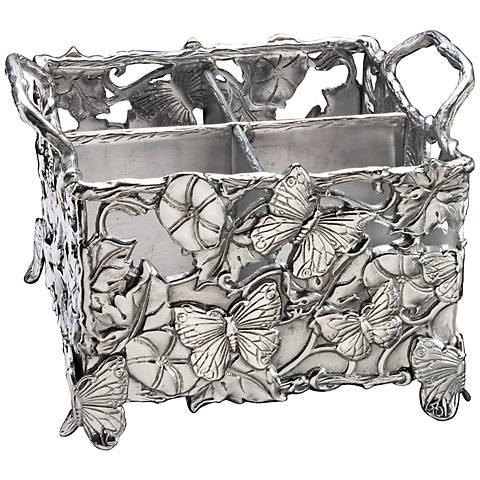 Arthur Court Butterfly Silver Flatware Caddy