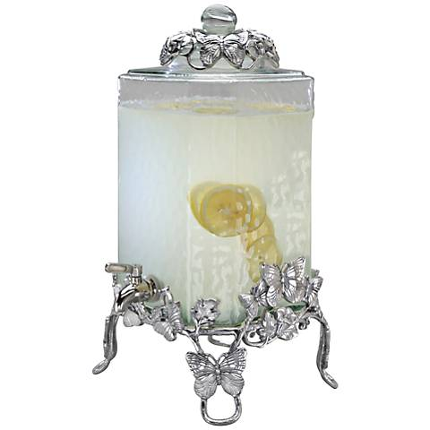 Arthur Court Butterfly Silver Beverage Server