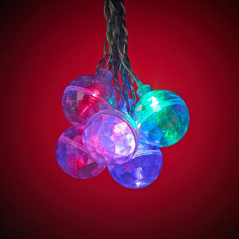 String Lights Lamps Plus : Flashing Multi-Color 16-Light LED Party String Lights - #4V723 Lamps Plus