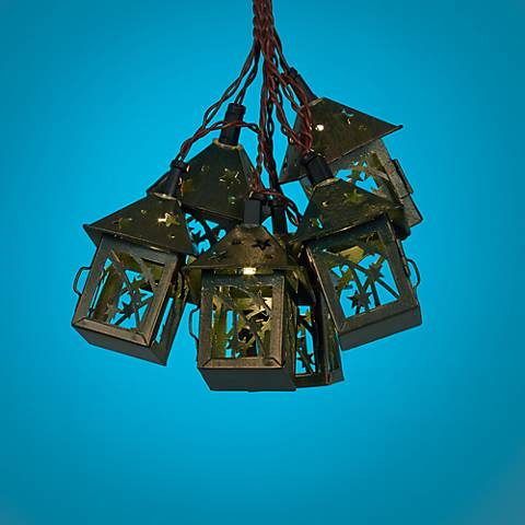 String Lights Lamps Plus : Bronze Star 10-Light LED Party String Lights - #4V728 Lamps Plus