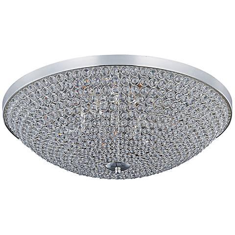 "Maxim Glimmer 19"" Wide Silver Ceiling Light"
