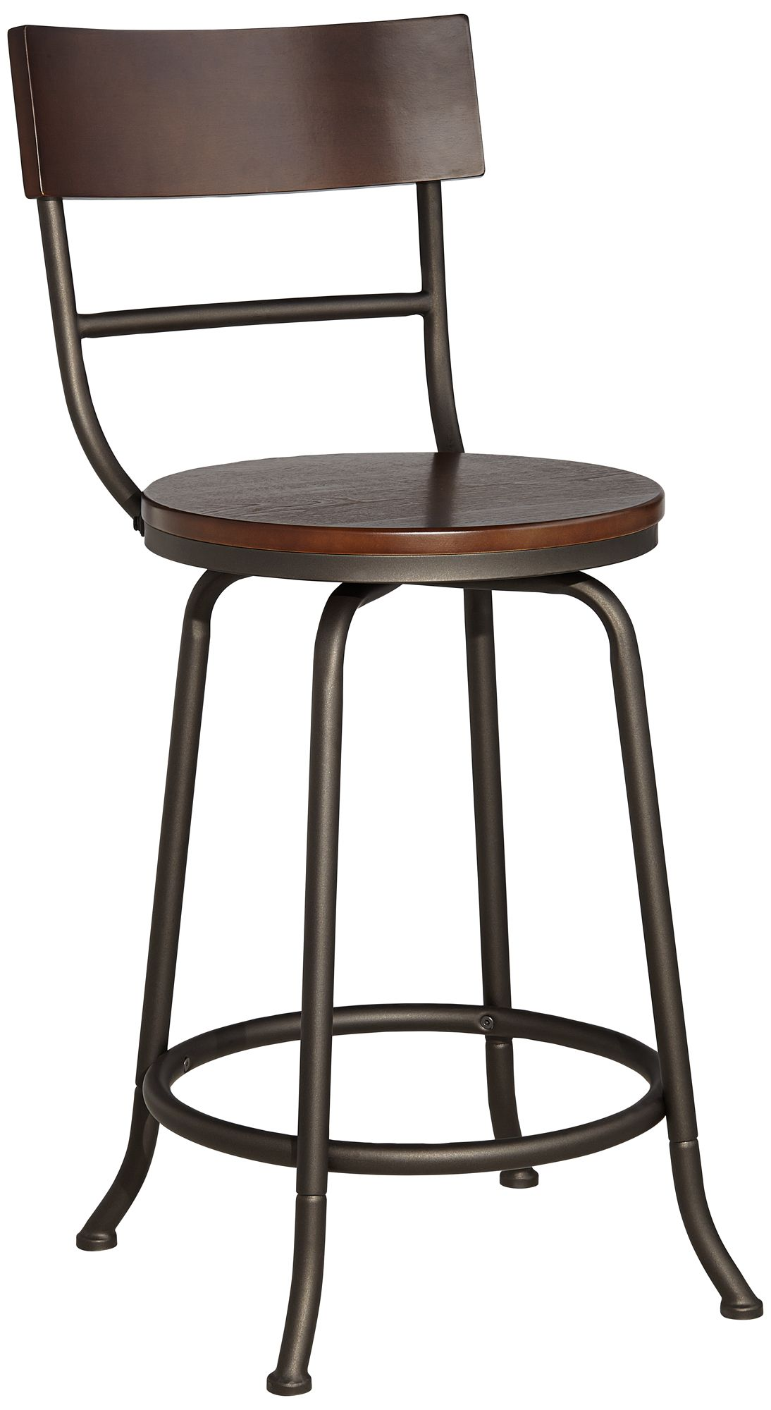 Langdon 24 1/4  Wood and Bronze Metal Counter Stool  sc 1 st  L&s Plus & Langdon 24 1/4