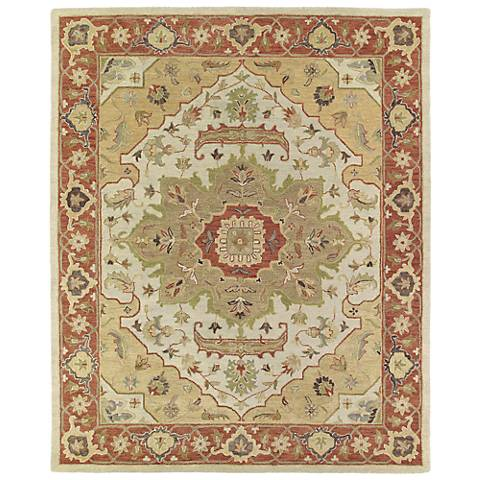 Kaleen Solomon 4054-05 Micah Gold Wool Area Rug