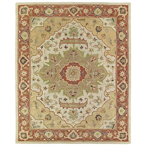 Kaleen Solomon 4054-05 Micah Gold Wool Area Rug