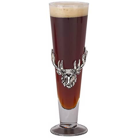 Arthur Court Antler Pilsner Drinking Glass