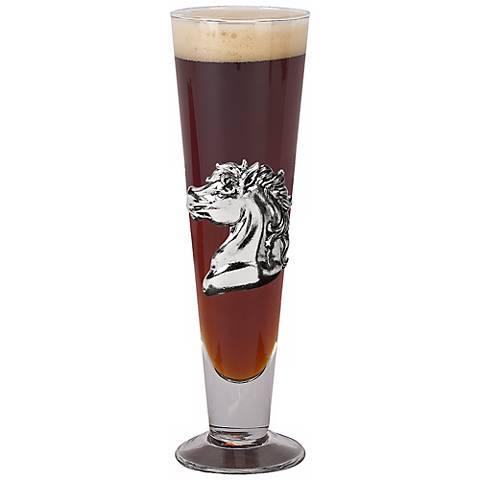 Arthur Court Horse Pilsner Drinking Glass