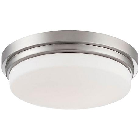 "Wilson 12 1/2"" Wide Satin Nickel LED Ceiling Light"