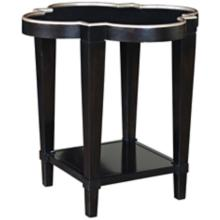 Staten Island Ebony Shaped End Table