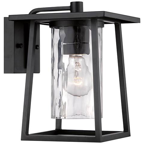 "Quoizel Lodge 10 1/2"" High Black Outdoor Wall Light"
