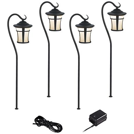 Carriage Style 6-Piece LED Landscape Light Set