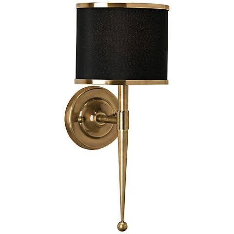 "Currey and Company Primo 19"" High Brass Wall Sconce"