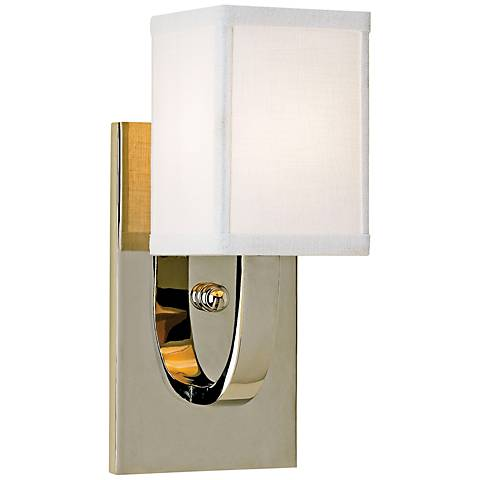 """Currey and Company Sadler 12"""" High Nickel Wall Sconce"""