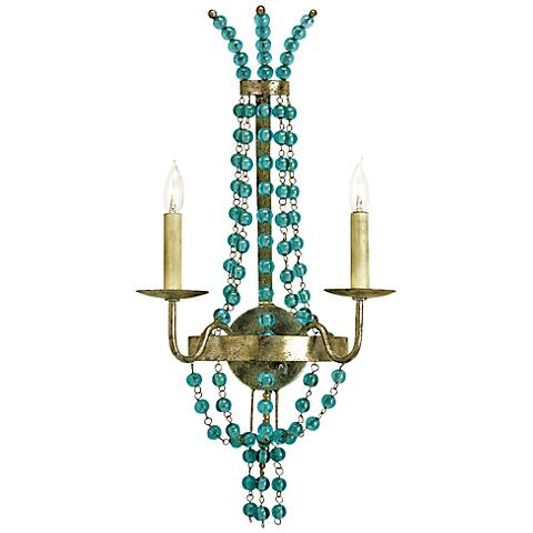 "Currey and Company Serena 26"" High Iron Wall Sconce"