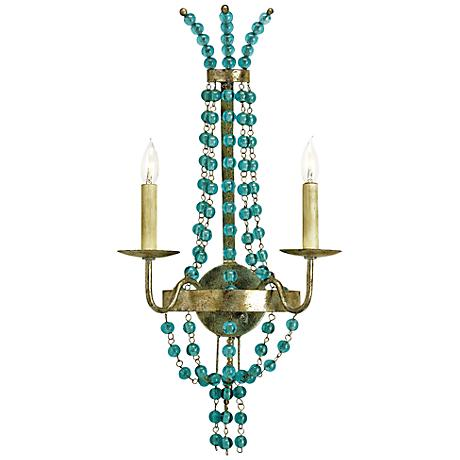"""Currey and Company Serena 26"""" High Iron Wall Sconce"""