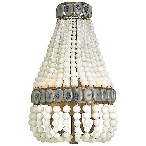 "Currey and Company Lana 16"" High Cream Wall Sconce"