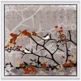 "Birds On Tree I 24"" Square Framed Canvas Wall Art"
