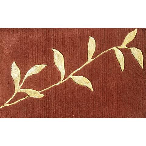 Golden Leaves Burgundy Doormat