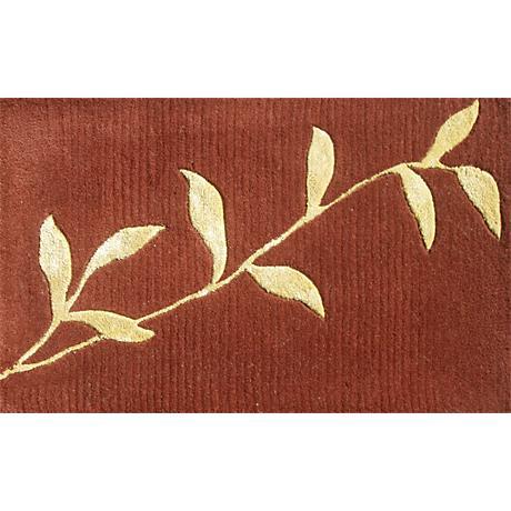 Golden Leaves Burgundy Doormat