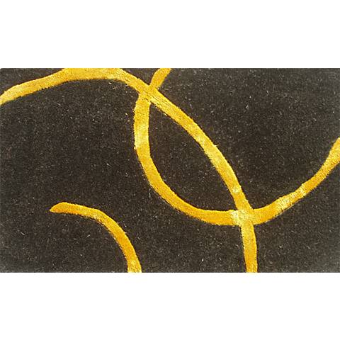 Barneys Black and Gold Doormat