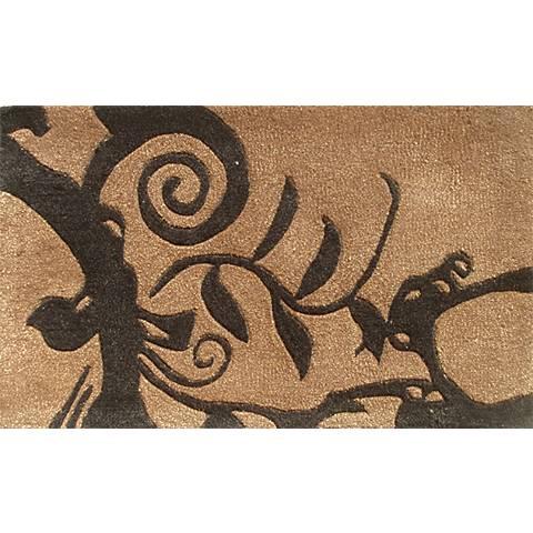 Cosa Bella Brown and Black Doormat