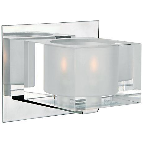 "Maxim Cubic 5 3/4"" Wide Polished Chrome Bath Light"