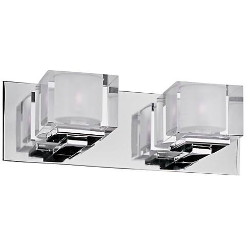 "Maxim Cubic 14 1/2"" Wide Polished Chrome Bath Light"
