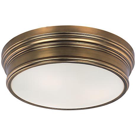 """Maxim Fairmont 16"""" Wide Aged Brass Ceiling Light"""