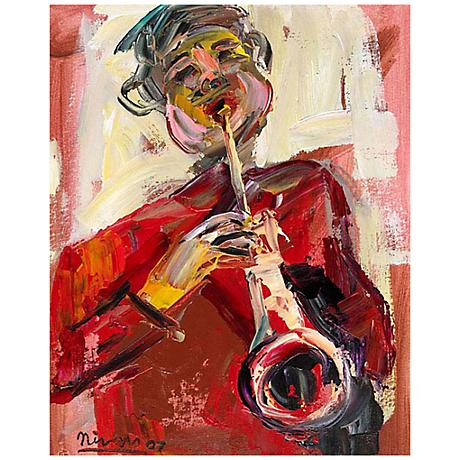 "Abstract Musician II 30"" High Giclee Canvas Wall Art"