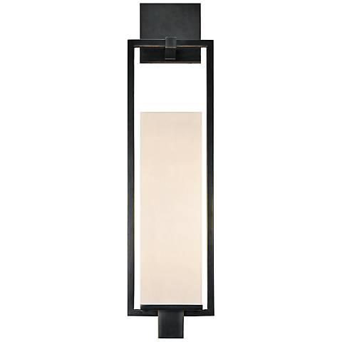 "Sonneman Metro 24""H Black Brass Fluorescent Wall Sconce"