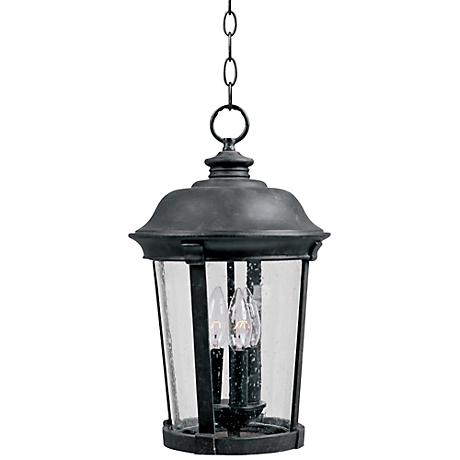 "Maxim Dover 20"" High Black Outdoor Hanging Lantern"