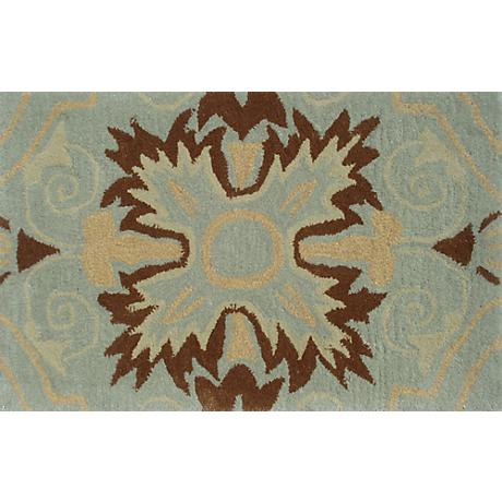 Beacon Hill Teal and Brown Doormat