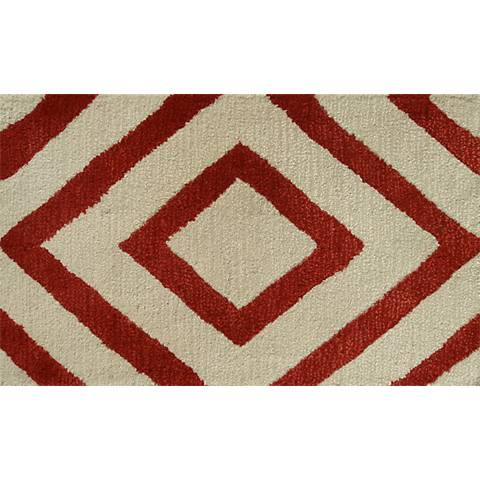 Zuel Red and Ivory Diamond Doormat