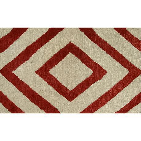 Zuel Red and Ivory Diamond Doormat
